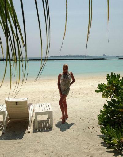 Анастасия Волочкова также выбрала Мальдивы для своего отдыха