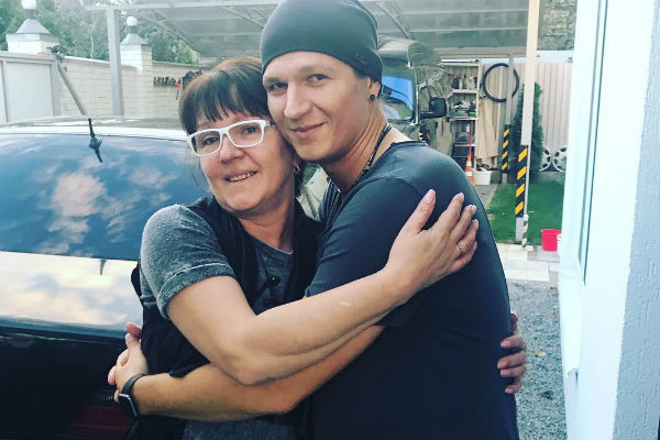 Сергей Бондаренко с мамой
