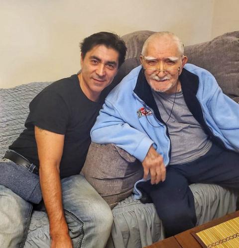 Армен Джигарханян с пасынком Степаном