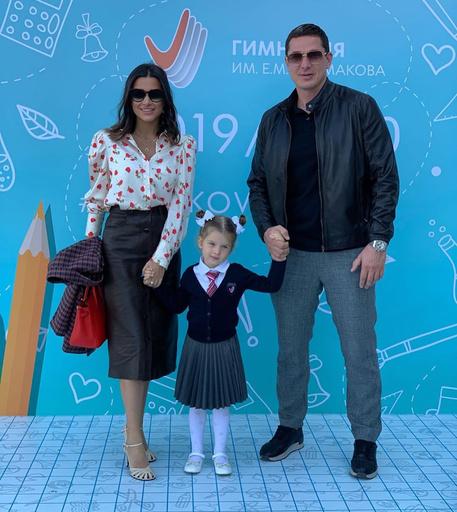 Ксения Бородина с супругом и дочерью