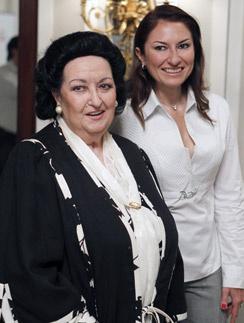 Монсеррат Кабалье с дочерью Монсеррат Марти