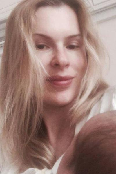 Елизавета Круцко показала голову ребенка