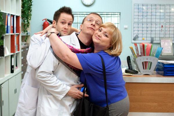 Больше 6 лет Светлана снималась в сериале «Интерны» на ТНТ. На фото – с Одином Байроном и Иваном Охлобыстиным