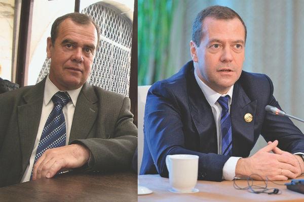 Двойник Александр Гончаров и Дмитрий Медведев