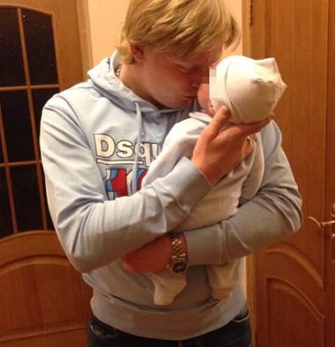 Денис Голубев с сыном Демидом