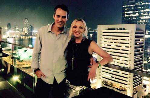В Гонконге Орбакайте и Земцов поужинали в ресторане на крыше небоскреба