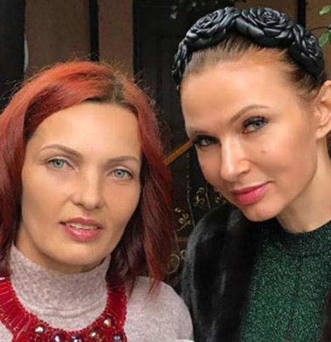 Эвелина Бледанс с сестрой по отцу Дианой