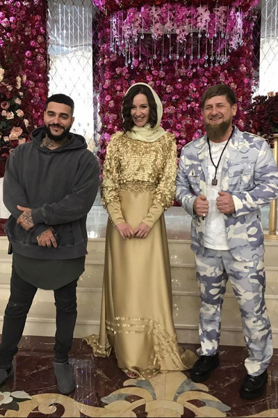 Kadyrov maintains warm relations with many stars