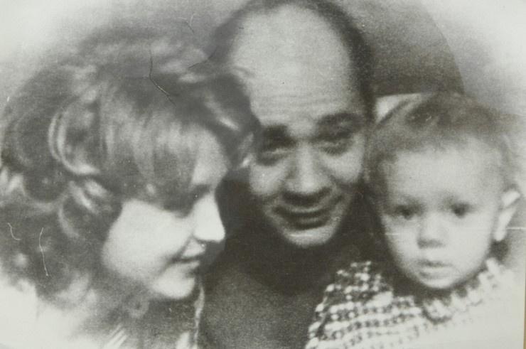 Ванда с Евгением Леоновым и сыном Андреем