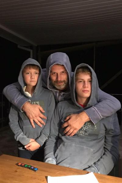 Муж Юрской с детьми