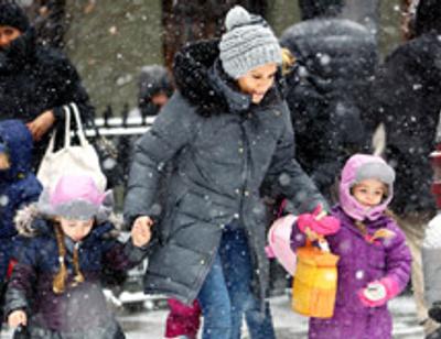 Звездные дети рады стихийному бедствию в Нью-Йорке