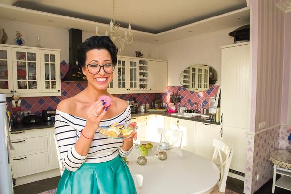 Гершуни обожает готовить на своей кухне