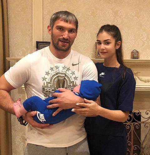 Александр Овечкин и Анастасия Шубская