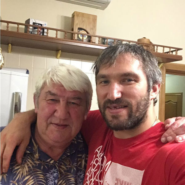 Александр Овечкин с папой
