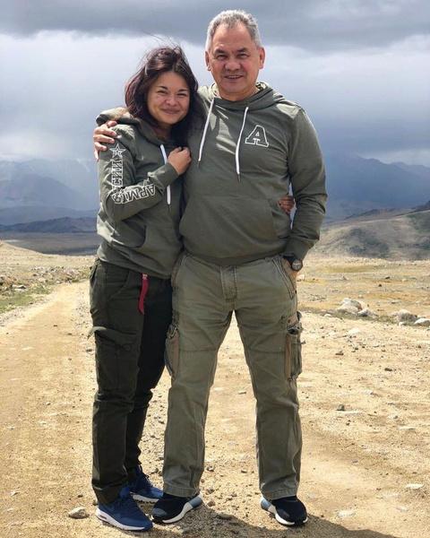 Сергей Шойгу с дочерью Ксенией