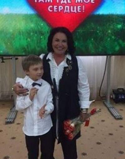 Надежда Бабкина с внуком