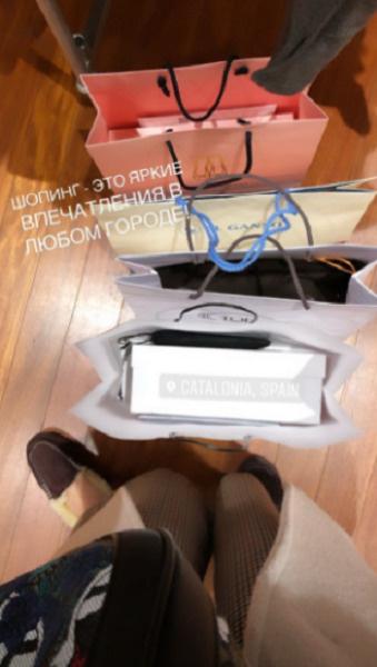 В Испании Татьяна не обошлась без шопинга