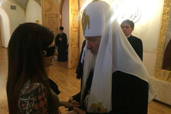 Диана Гурцкая на встрече с Патриархом Кириллом