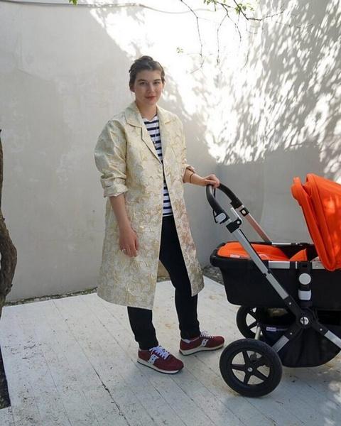 Саша Михалкова с сыном Федором