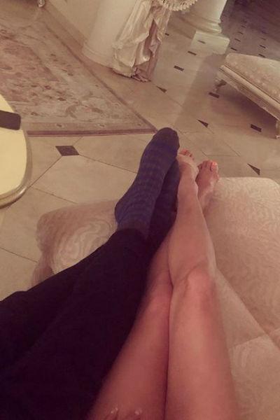 Вероятно, именно эти носки рассекретили нового мужчину балерины