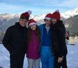 Кэтрин Зета-Джонс с семьей рванула в Альпы