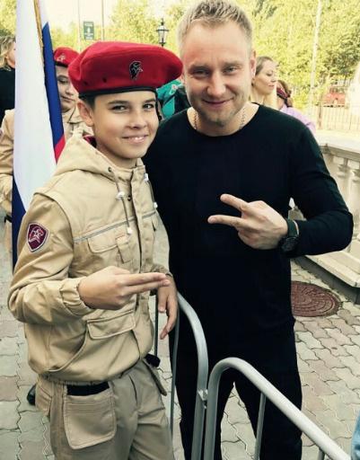Алексей Хворостян с сыном
