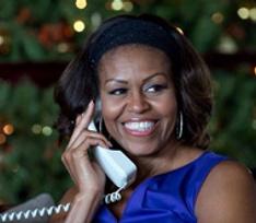 Мишель Обама проследила за полетом Санта Клауса