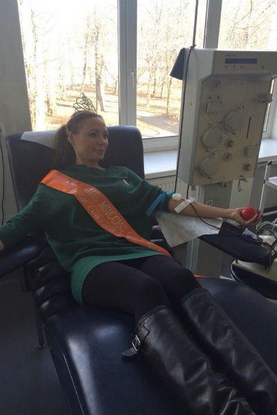 Екатерина Кирмель еще и многолетний донор