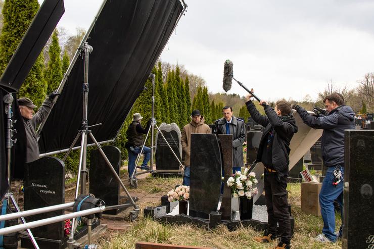 Один из эпизодов снимался на кладбище
