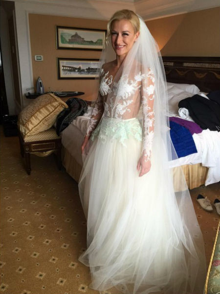 Платье для Татьяны Волосожар придумала Алена Ахмадуллина