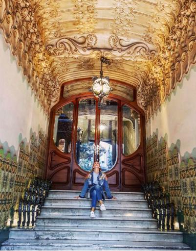 Фигуристка восхищена величием центра Каталонии