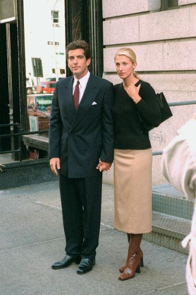 Джон Кеннеди-младший с супругой