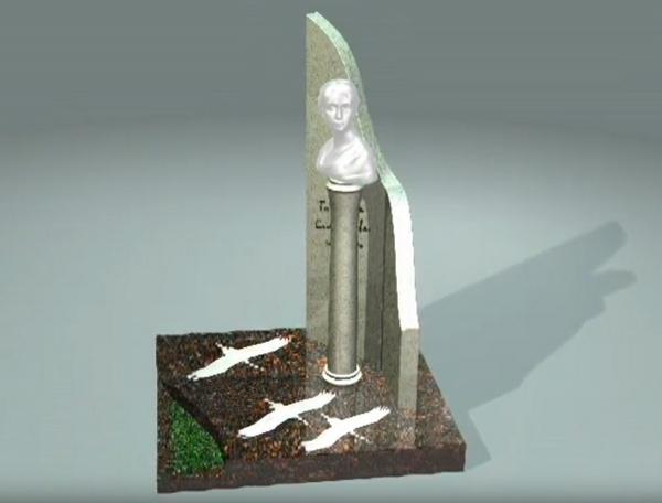 Эскиз памятника Татьяне Самойловой