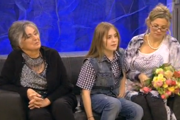 Лариса с мамой Татьяной и 11-летним сыном Кириллом