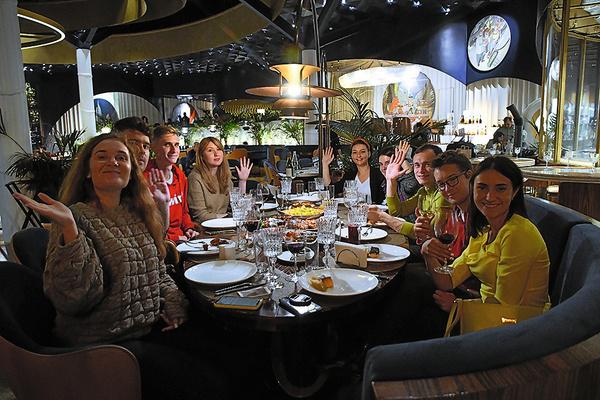 Ужин в фантастическом панорамном ресторане «Восход» в парке «Зарядье»