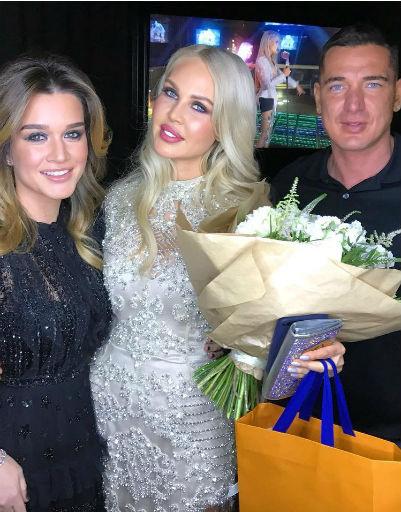 Ксения Бородина и Курбан Омаров поздравили виновницу торжества