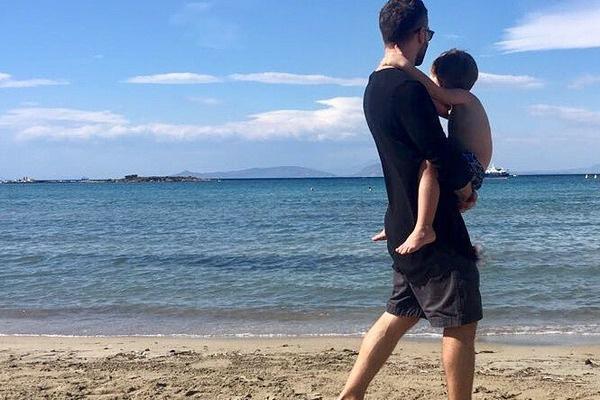 Дмитрий Шепелев с сыном на отдыхе