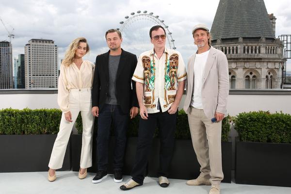 Тарантино с исполнителями главных ролей в Лондоне
