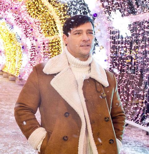 Юрий Шатунов на съемках новогоднего номера для Первого канала