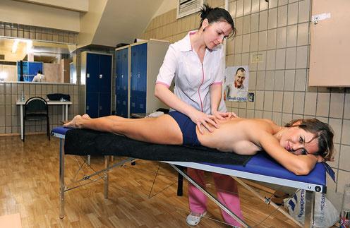 Вика Боня снимала физическое и моральное напряжение с помощью массажа