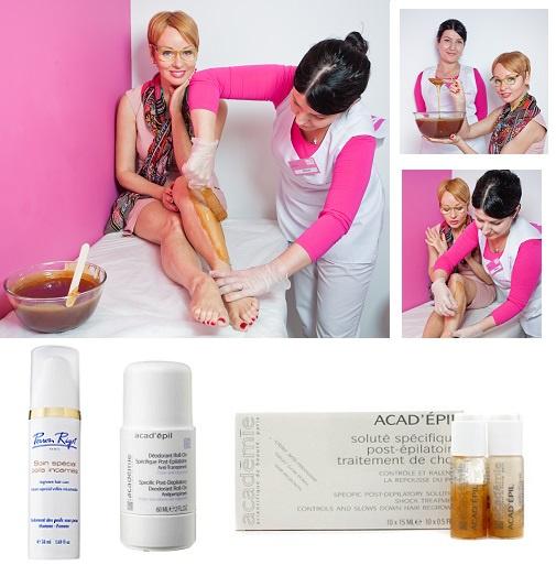 Сыворотка предотвращающая врастание волос Perron Rigot, дезодорант-антиперспирант Acad' epil, сыворотка после депиляции Acad' epil