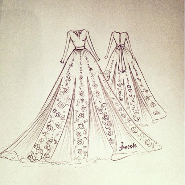 Эскиз платья на выписку из роддома