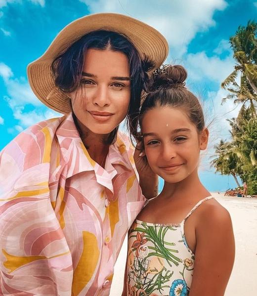 Ксения Бородина со старшей дочерью