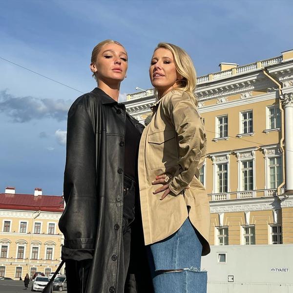 Ксения Собчак и Настя Ивлеева