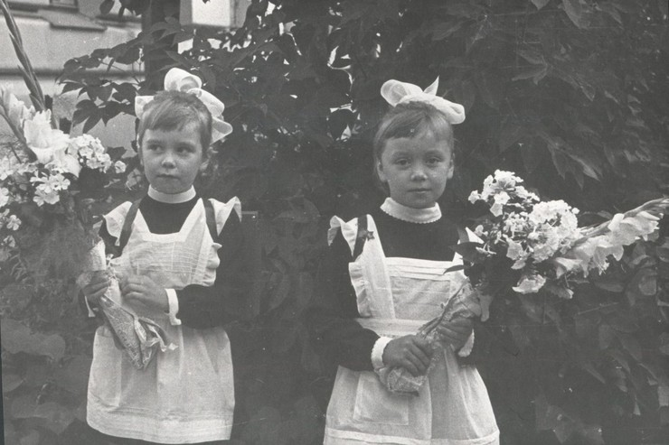Евдокия Германова с сестрой Любовью