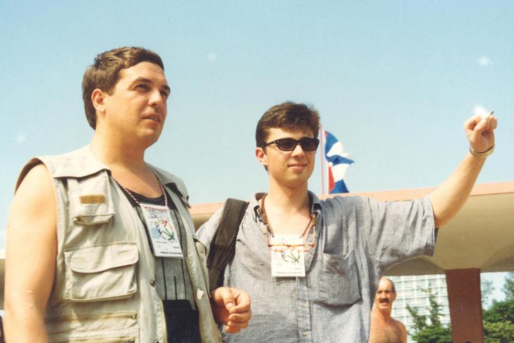 В конце 90-х соведущим Любимова был Сергей Бодров