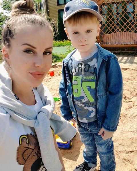 Ольга с сыном Мишей