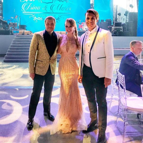 Николай Басков и Максим Галкин с подругой невесты