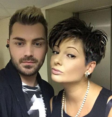 Виктория Талышинская с музыкантом группы «Непара» Виталием Милушевым
