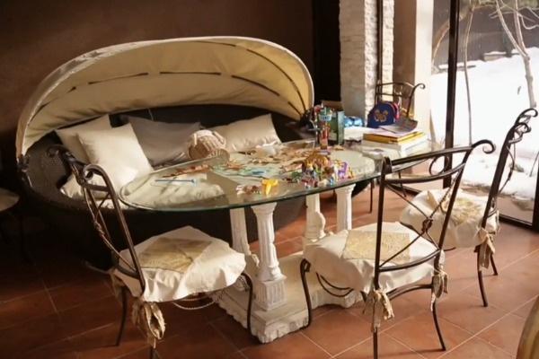 Эта комната - любимое место отдыха дочери Светланы